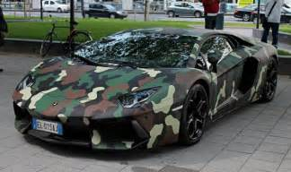 Camo Bugatti Lamborghini Aventador With Jungle Camouflage Wrap