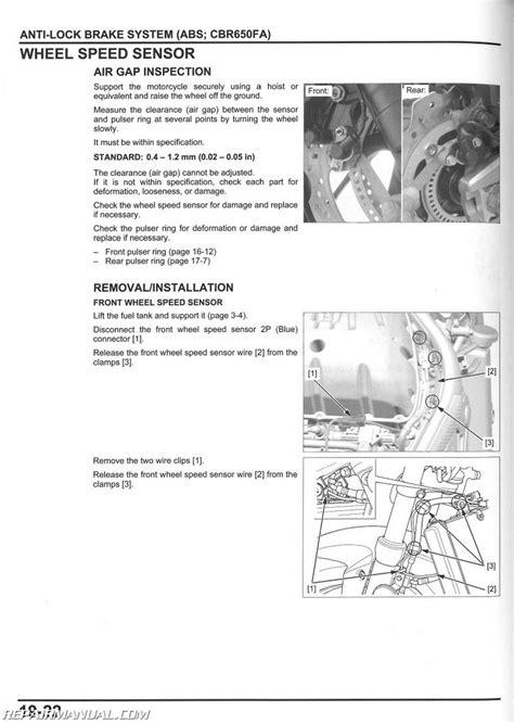 2014 2015 honda cbr650 f fa motorcycle service manual