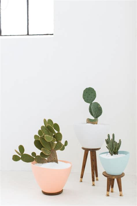 diy mid century planters sugar cloth
