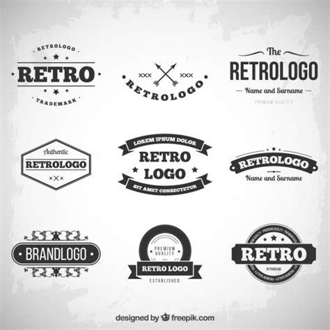logo retro retro logos collection vector free