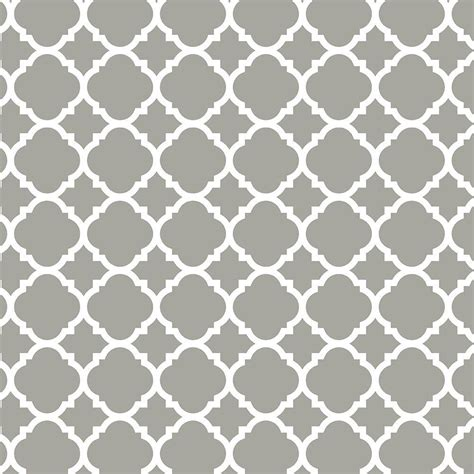 pattern white and gray liberty 18 in gray quatrefoil adhesive shelf liner dln005