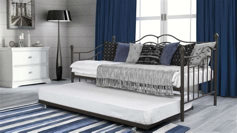 twin size bed with trundle furniture iron daybed with trundle using white bedding