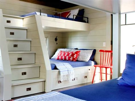 bunk beds for small rooms modern cool built in bunk beds for small rooms with steps