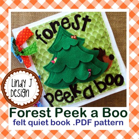 pattern for baby quiet book forest peek a boo felt quiet book pdf pattern