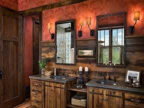 Rustic Bathrooms Designs rustic bathrooms designs with red walls and wooden cabinets rustic