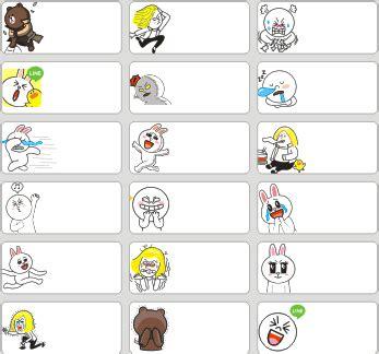 Stiker Laminasi Karakter 11 jual line sticker medium name label stiker karakter brown moon cony sally lucu nama
