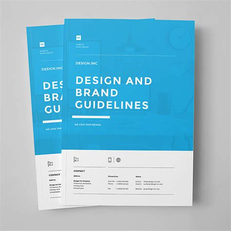 user manual design template brand manual template