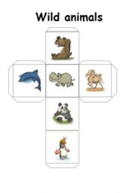 printable animal dice english teaching worksheets wild animals