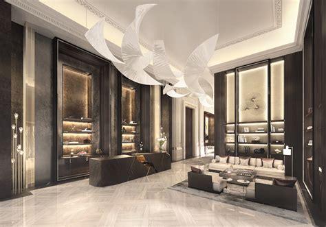 luxury apartment design interiors astana 5 hotel residences astana reception front detail
