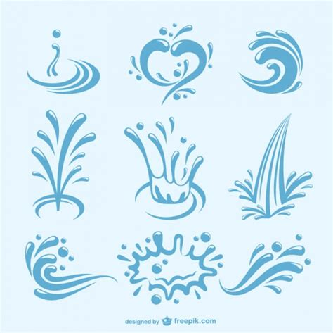 water pattern tap water splashes pack vector free download