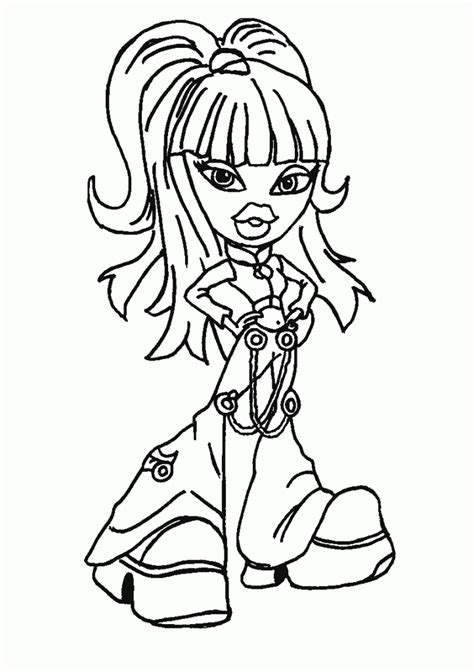 Coloring Page To Print by Free Printable Bratz Coloring Pages For