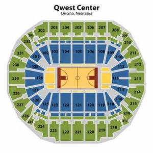 Centurylink center omaha basketball seating chart centurylink center