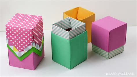 box origami origami box tutorial paper kawaii