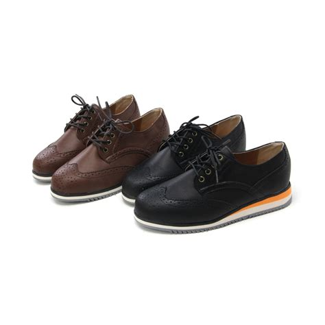 mens wing tip punching eyelet lace up multi color wedge