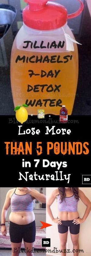 10 Pounds In 7 Days Detox by Jillian Michael S Lose 5 Lbs In 7 Days Water Weight