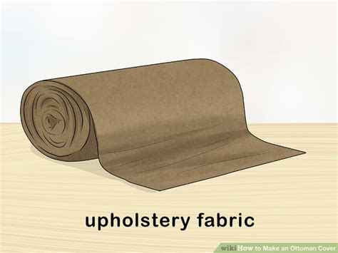 how to cover an ottoman how to an ottoman cover with pictures wikihow