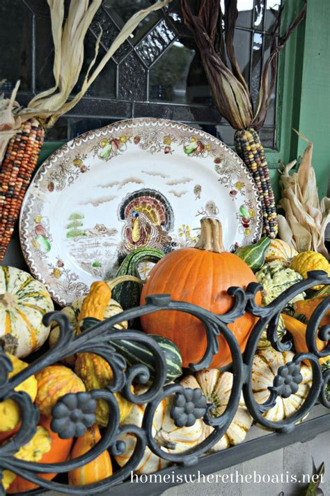 Harvest Windows Inspiration with Harvest Window Box Inspiration With Gourds Pumpkins Indian Corn And A Turkey Platter Fall