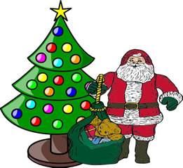 christmas tree with santa claus clip art at clker com