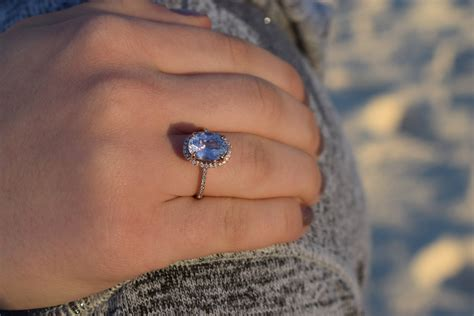 Blue Sapphire 8 78ct oval blue sapphire engagement ring gold engagement