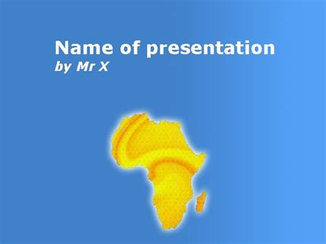 Africa Wild Animals Powerpoint Template Africa Powerpoint Template