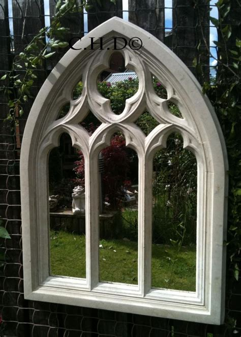 arch shaped wall decor arched mirror church window wall outdoor