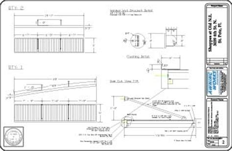 Horizontal Awnings Retractable Cad Design Amp Structural Engineering Services