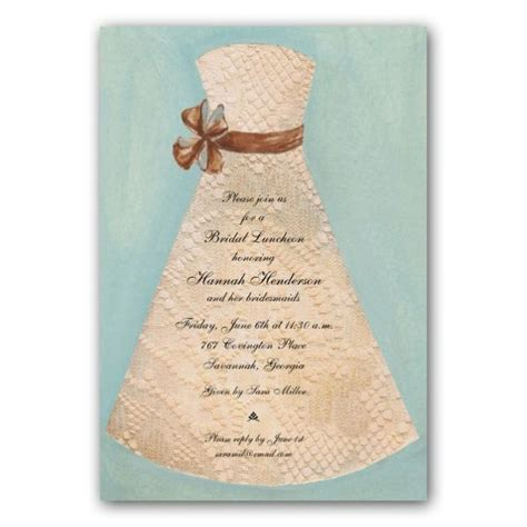 bridesmaid invitation templates lace gown bridesmaids luncheon invitations paperstyle