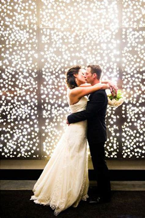 romantic wedding backdrop lights
