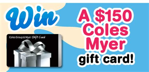 Register Wendy S Gift Card - wendys win 150 coles myer gift card australian competitions