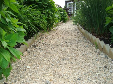 garden walkway ideas walkways on pinterest pea gravel brick walkway and