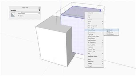 sketchup tutorial intersect the basics of intersection in sketchup sketchucation