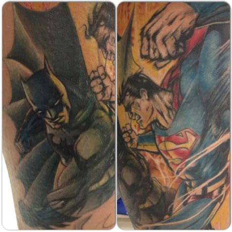 superman batman tattoo designs 24 coolest batman tattoos designs