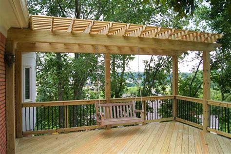 swing pergola arbor builders