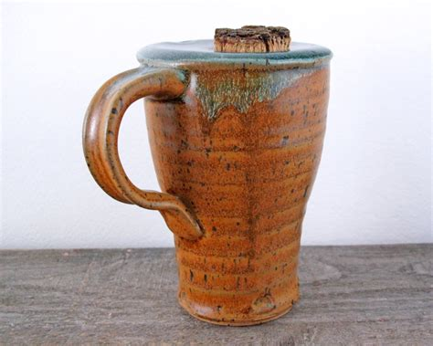 Handmade Mugs Pottery - ceramic travel mug handmade stoneware pottery by