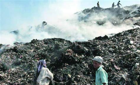 landfill site  maidan garhi  delhi india ejatlas