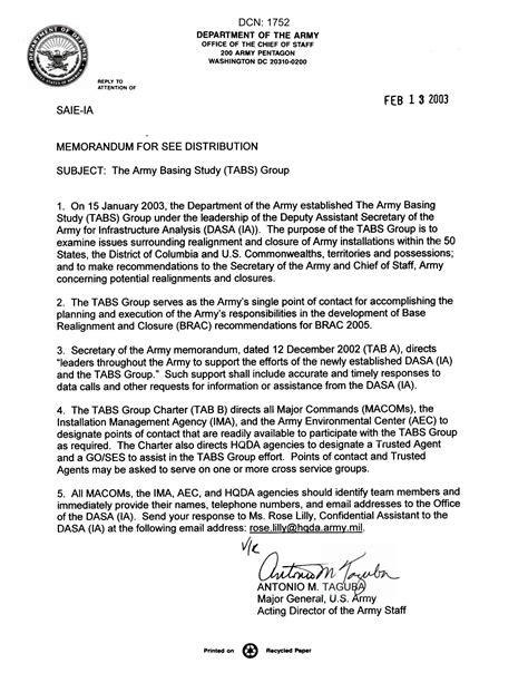 department   army memorandum   principle