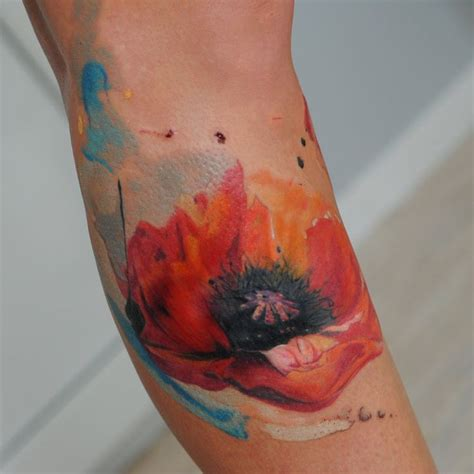 watercolor poppy tattoo watercolor poppy by dopeindulgence deviantart on