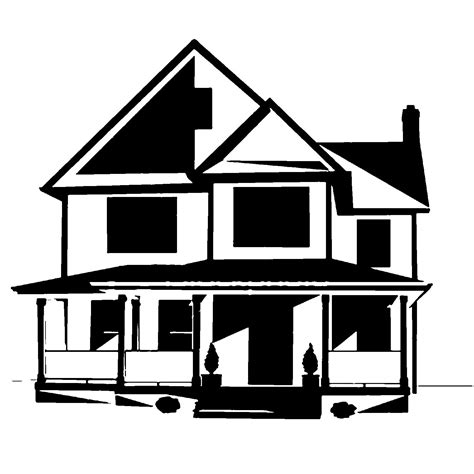 house silhouette house silhouette clipart best