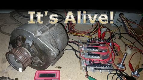 Auto Lichtmaschine by Running A Car Alternator As A Bldc Electric Motor With The