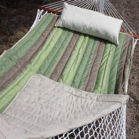 Hammock Pad Green And Brown Stripe Sunbrella Hammock Pad Padsamg10