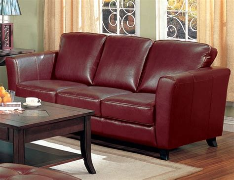 reddish brown leather sofa brady red brown leather sofa by coaster 501241