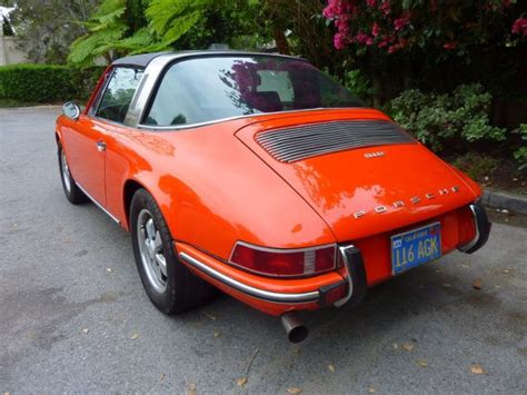orange porsche targa 1969 porsche 912 targa tangerine orange fuchs wheels