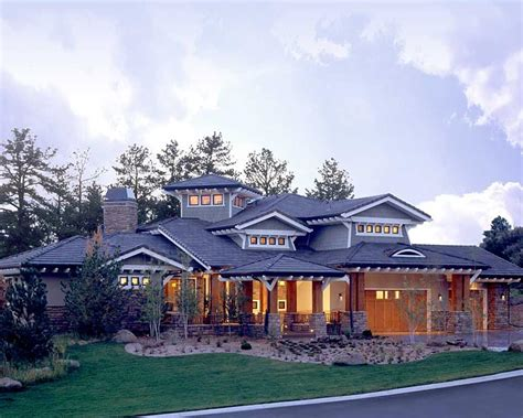 southwest style house plans craftsman prairie style southwest house plan 43205