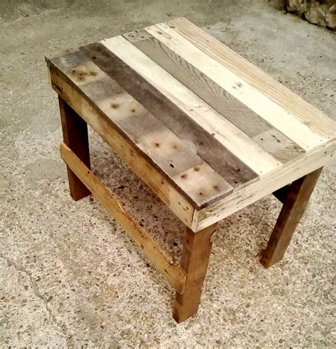 end tables made from pallets pallet end table