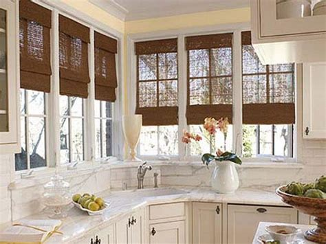 kitchen blind ideas bloombety window treatment ideas for kitchen bay window
