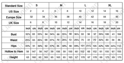 dress size chart uk us eu dress size chart usa uk