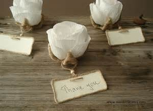 10 rustic flower place card holders unique wedding by vendecor