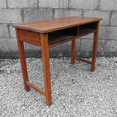 school desk antique oak student height