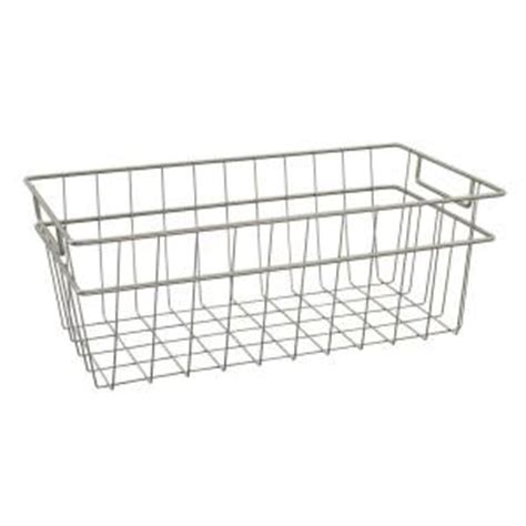 Closetmaid Nickel Wire Shelving Closetmaid Large Wire Basket In Nickel 31228 The Home Depot