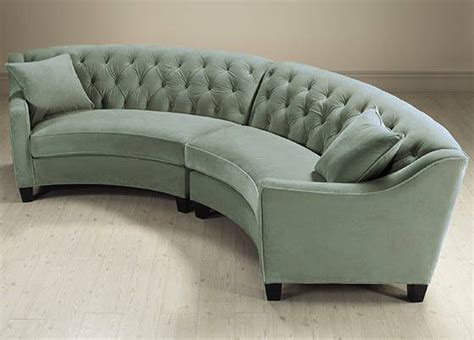 Curved Couch Sofa Curved Sectional Sofas For Small Es Curved Tufted Sofa